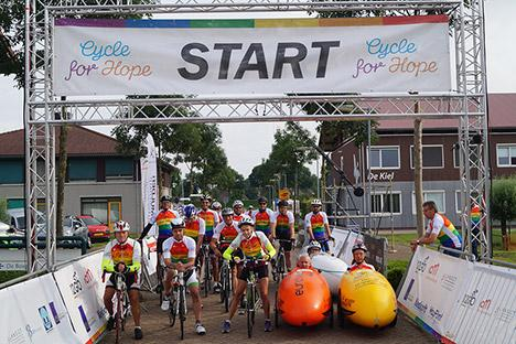 Zesde editie van Cycle for Hope: in 48 uur Nederland rond