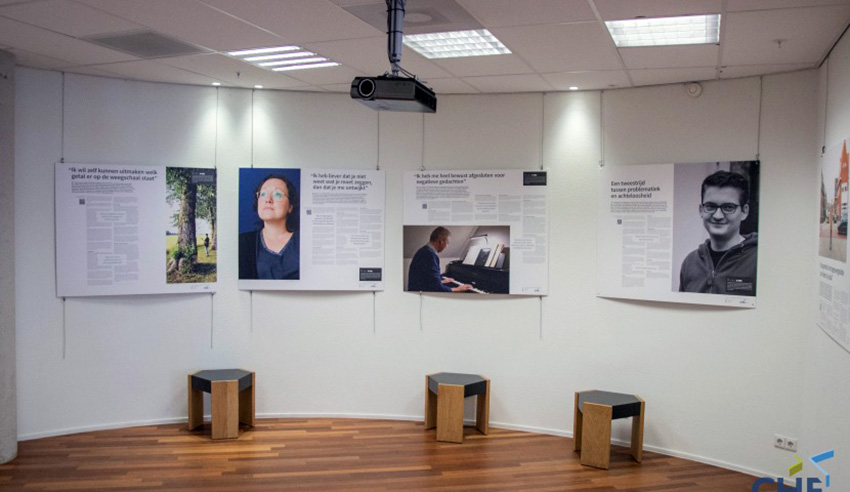 Expositie portrettenreeks Invisible Cities door studenten CHE